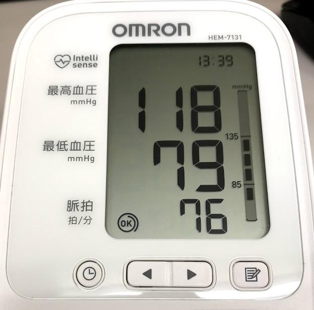 私の安静時血圧